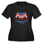 Fred Thompson Women's Plus Size V-Neck Dark T-Shir
