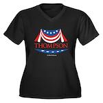 Fred Thompson Women's Plus Size V-Neck Dark T-Shir