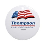 Thompson for President Ornament (Round)