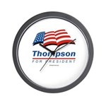 Thompson for President Wall Clock
