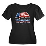 Thompson for President Women's Plus Size Scoop Nec