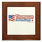 Thompson for President Framed Tile