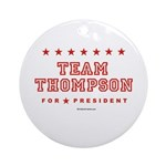 Team Thompson Ornament (Round)