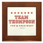 Team Thompson Framed Tile