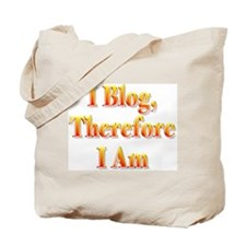 I Blog Therefore I Am Tote Bag