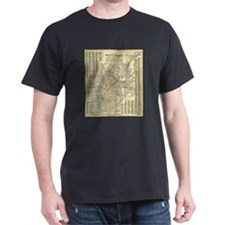 Los Angeles Old Map T-Shirt
