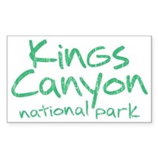 Kings Canyon National Park (Graffiti) Decal