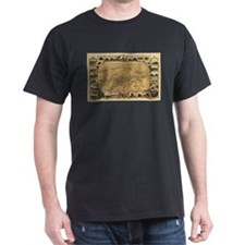Fresno Old Map T-Shirt