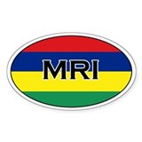 Mauritius stickers Oval Decal