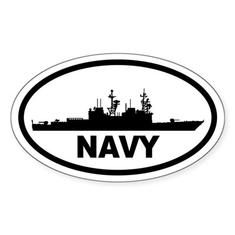 NAVY Destroyer Oval Sticker