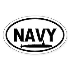 NAVY Submarine Oval Decal