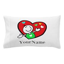 Happy Heart (p) Pillow Case