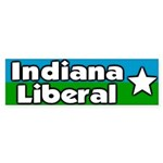 Indiana Liberal Bumper Sticker