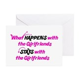 Stays With Girlfriends Greeting Cards (Pk of 20)