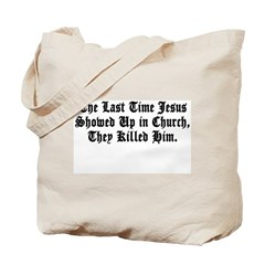 Jesus in Church Tote Bag