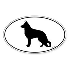 German Shepherd Dog Oval Decal