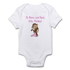 Nana, Papa Monkey(pink) Infant Bodysuit