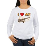 I *HEART* My Sax Women's Long Sleeve T-Shirt