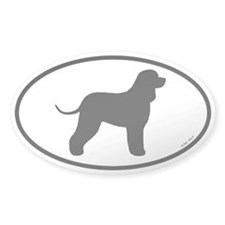 Irish Water Spaniel Oval Decal