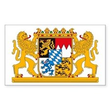 Bayern Coat of Arms Rectangle Decal