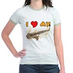I *HEART* My Sax Jr. Ringer T-shirt
