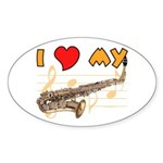 I *HEART* My Sax Oval Sticker