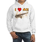 I *HEART* My Sax Hooded Sweatshirt