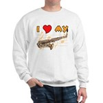 I *HEART* My Sax Sweatshirt