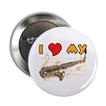 "I *HEART* My Sax 2.25"" Button (10 pack)"