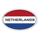Netherlands stickers Oval Decal
