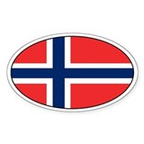 Norwegian stickers Oval Decal
