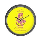 Sol Yellow Background Wall Clock
