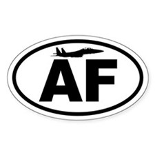 Air Force Fighter Jet Oval Decal
