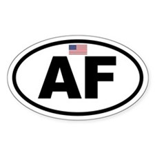 Basic American Flag Air Force Oval Decal