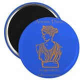 "Luna Blue Background 2.25"" Magnet (100 pack)"
