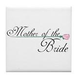 Elegant Mother ofThe Bride Tile Coaster