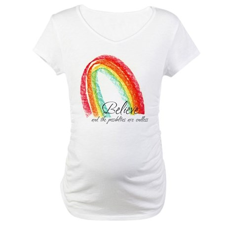 BELIEVE Maternity T-Shirt
