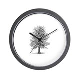 Unique Trees Wall Clock