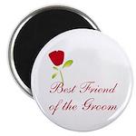 Red Groom's Best Friend Magnet