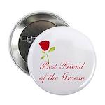 Red Groom's Best Friend Button