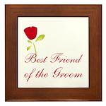 Red Groom's Best Friend Framed Tile
