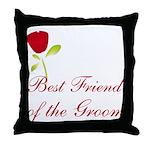 Red Groom's Best Friend Throw Pillow