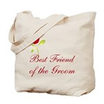 Red Groom's Best Friend Tote Bag