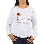 Red Groom's Best Friend Women's Long Sleeve T-Shir