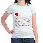 Red Groom's Best Friend Jr. Ringer T-Shirt