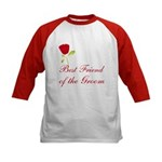 Red Groom's Best Friend Kids Baseball Jersey