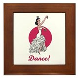 Spanish Dancer Framed Tile
