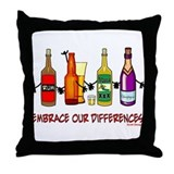 Embrace Our Differences Throw Pillow