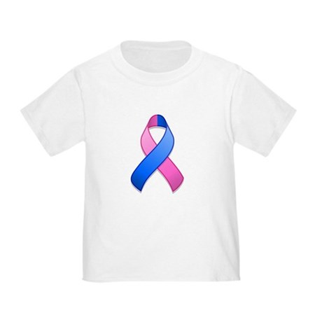 Blue and Pink Awareness Ribbon Toddler T-Sh