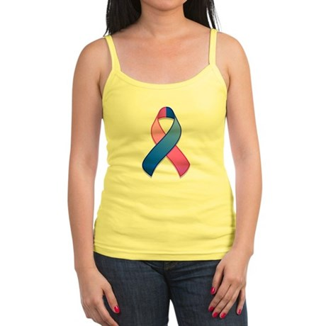 Blue and Pink Awareness Ribbon Jr. Spaghetti Tank